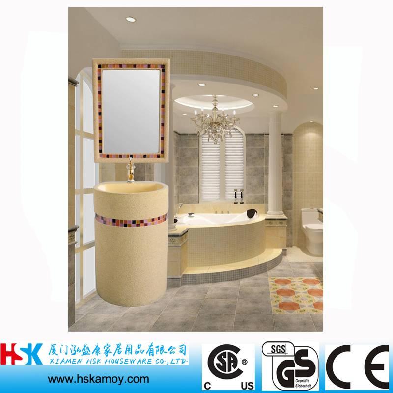 Arab Style Bath Sink, Sandstone Bathroom Basin, Resin Sculpture Bath Sink, WC Wash Hand Sink