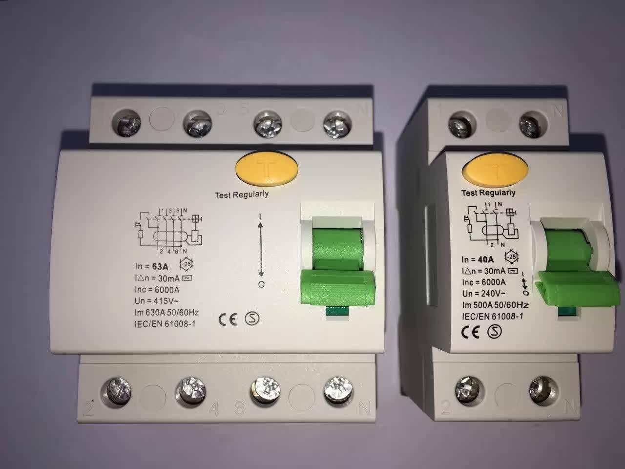 CNHUNG RCCB C60 RCCB/ELCB/RCD 2P/4P residual circuit breaker manufacturer