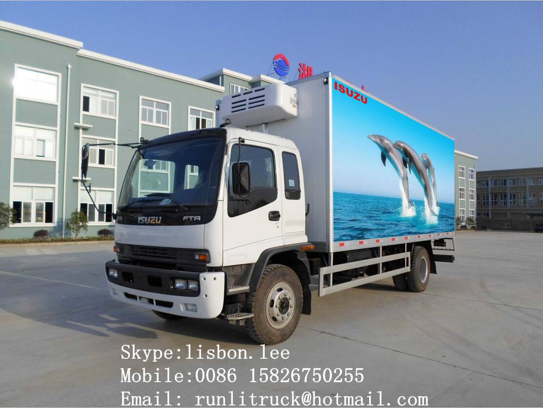 ISUZU refrigerator truck 10Tons for sale 008615826750255 (Whatsapp)