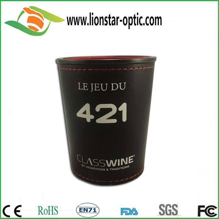 Leather custom logo dice cup