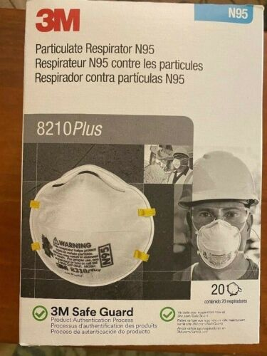 3M8210 Plus; N Grade 95 Msk; Brand New; Exp. 05_2025; Made in USA,Pack of 20 +14704086638