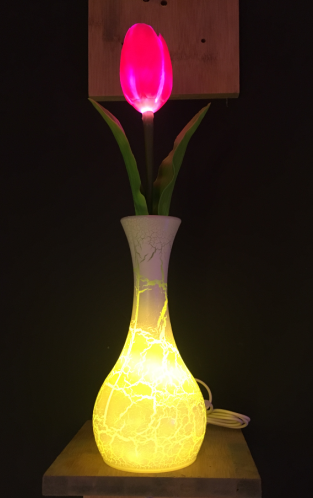 Tulip artificial flower led light with battery