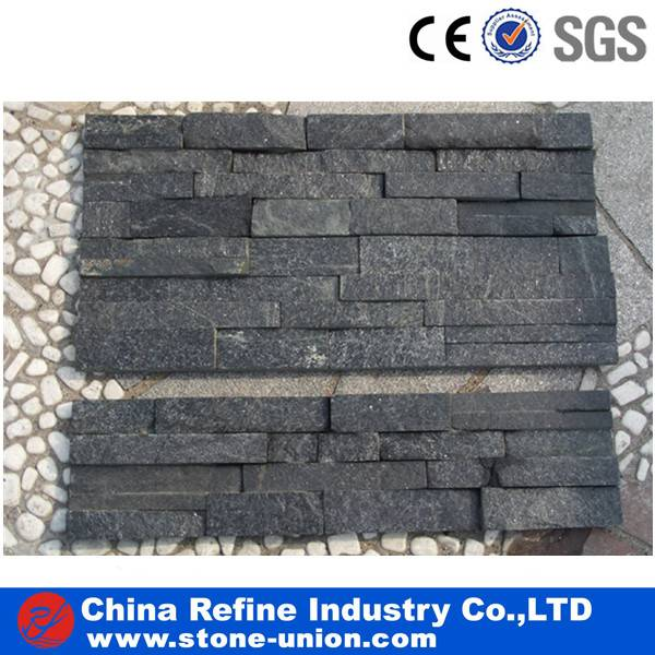 Black quartzite wall panles