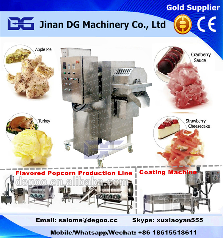 Industrial caramel popcorn making machine chocolate popcorn production line