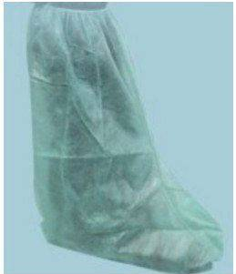 Disposable non woven boot cover to protect against splash