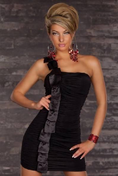 One-shoulder Mini Dress V-5429C