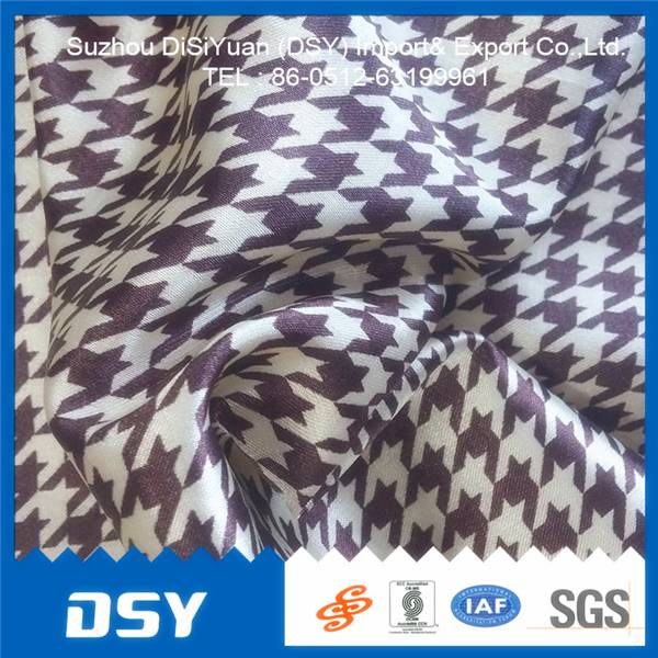 100%Polyester cheap satin flowers fabric form suzhou in China