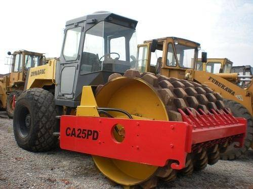 Used dynapac roller with padfoot CA25PD