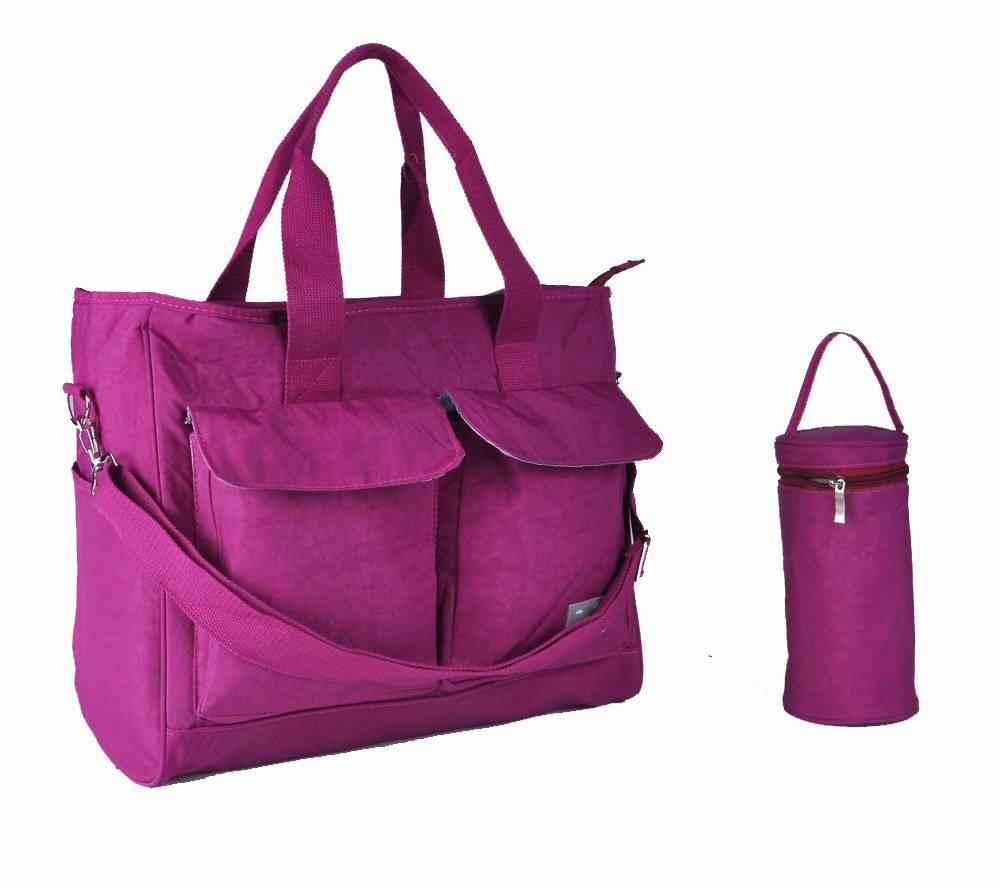 Elegant Purple Adult Diaper Nylon Bag