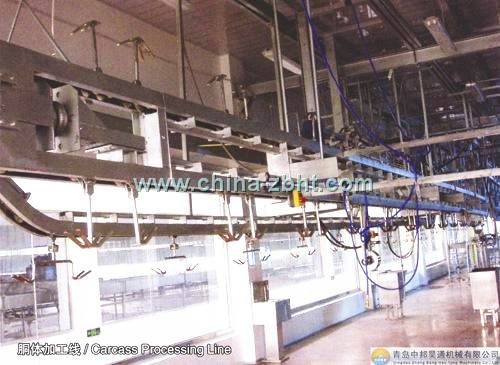 sheep carcass processing auto-conveying line