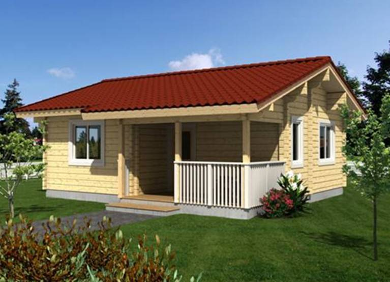 Hot-selling leisure prefabricated cheap wooden house
