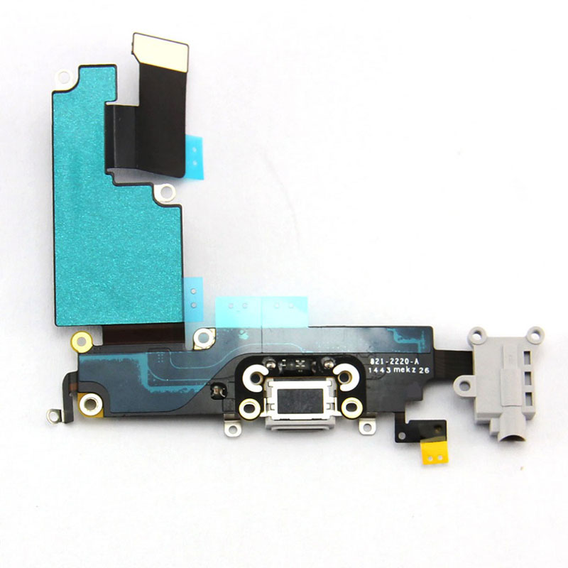 For Apple iPhone 6 Charging Port Flex Cable Ribbon Replacement - Light Gray