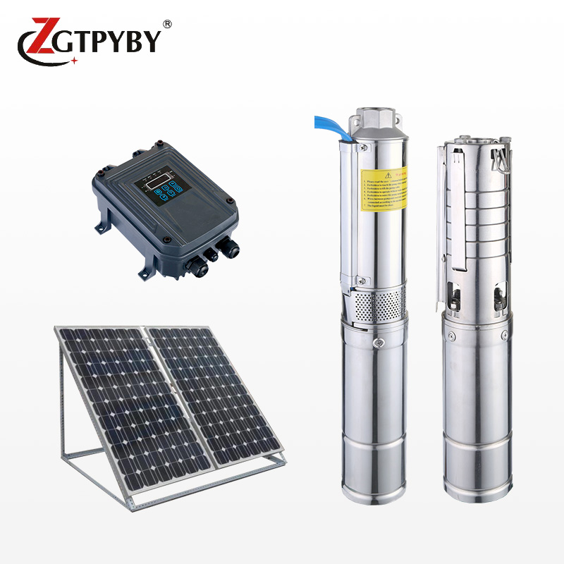 1.1kw 1.5hp 72m head dc solar deep well submersible pump complete system borehole pump price
