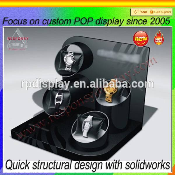 Customized clear acrylic countertop fashion watch display stand