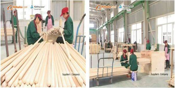 High quality wooden mop handle from professional manufacturers
