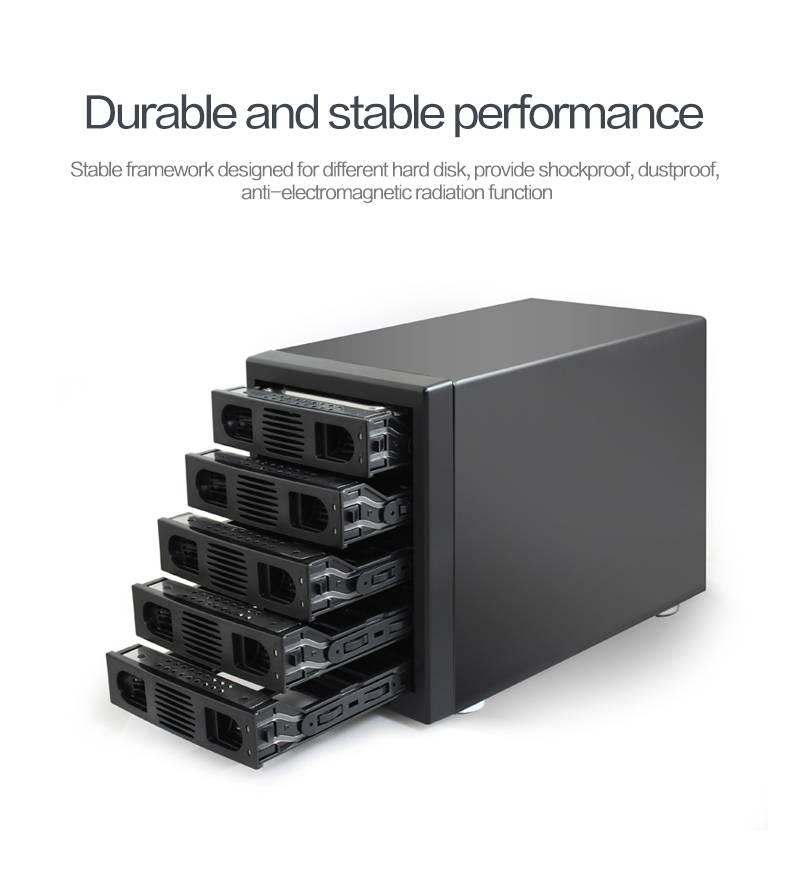 Raid 5 Bay Hdd Enclosure Box for 2.5/3.5 Inch Hard drive