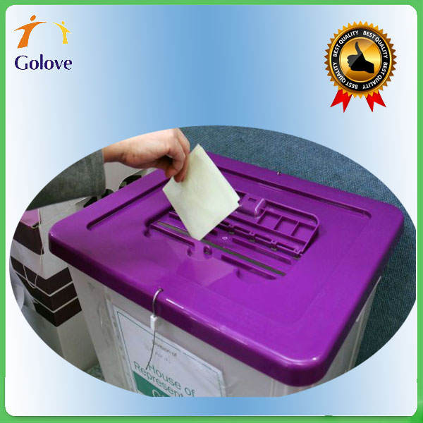 Clear Acrylic Corrugated Election Ballot Box For Nigeria Election