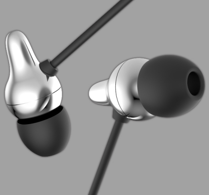 Wired Bending In-Ear Earphone with Microphone with Noise Cancelling Funtions For Mobile Phone