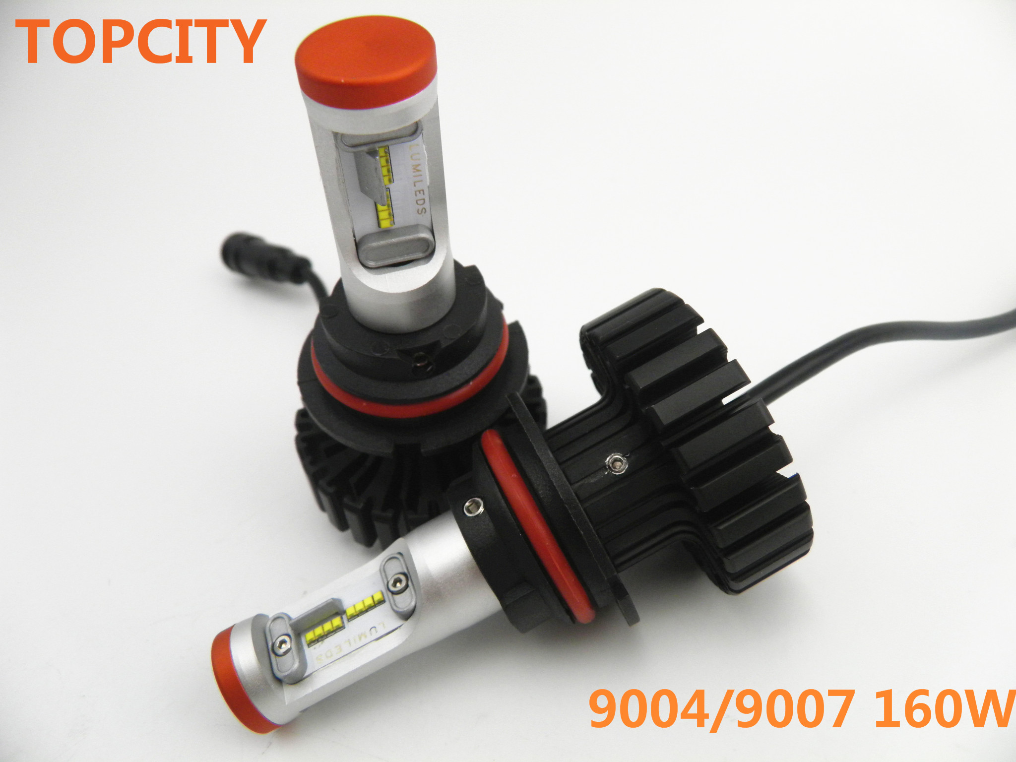 Topcity LED 160W Conversion Kit 9004 High Low Beam Headlight 9007 Headlamp9004/9007Hi/Lo