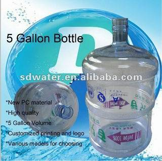 Full Poly Carbonate Material Drinking Water Bottle for 5 Gallon Bottle