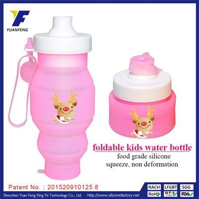 Wholesale Hot New Arrival Foldable Water Bottle Transparent