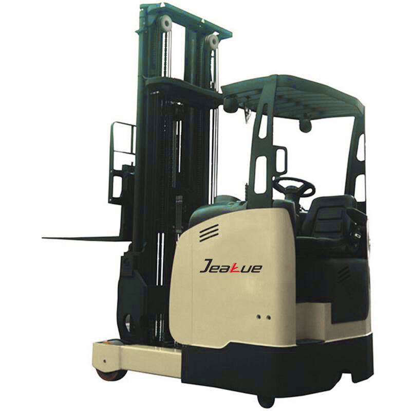 rider seated driving fork reach electric forklift