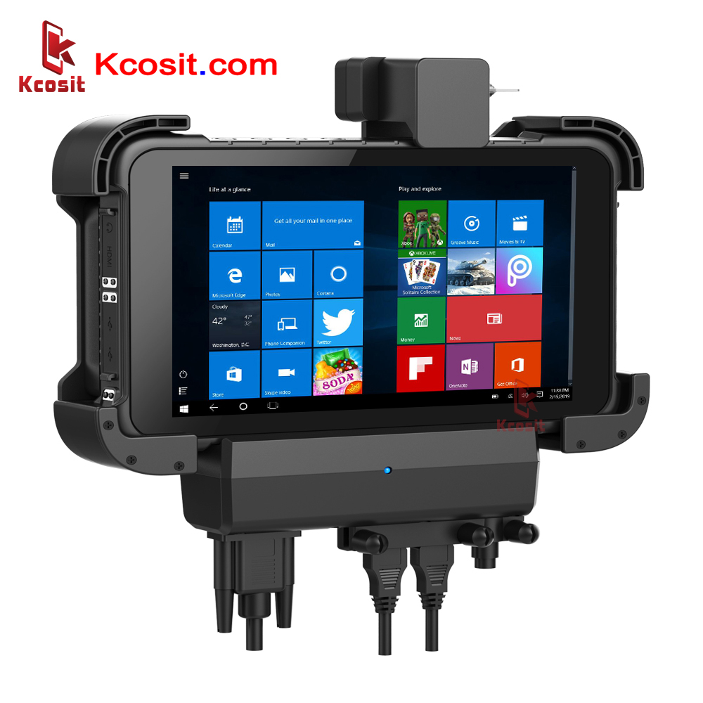 "Rugged Windows Tablet Car Holder Bracket RS232 USB IP67 Extrem Waterproof 8"" Touch 1280x800 HDMI"