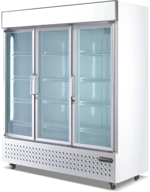 Vertical Glass door freezer showcase/Vertical Glass door refrigerated showcase fan/air cooling drink