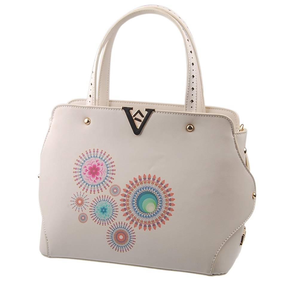 Guangzhou Supplier Designer Printing Ladies Handbag Set (L5001)