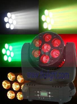 7PCS 12W LED Moving Head PAR Disco Stage Lighting