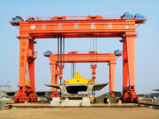gantry crane to lift 1200t box girder