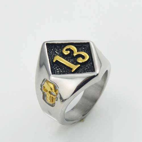 Golden No.13 stainless steel ring