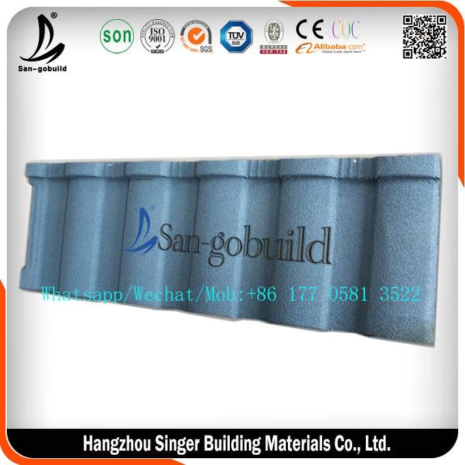 2016 new roman design low price villa building material stone coated metal roof tile /nigeria buildi