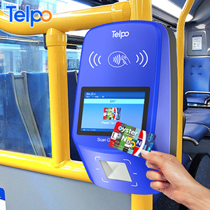 Telpo nfc card reader android point of sales terminal bus validator with qr code