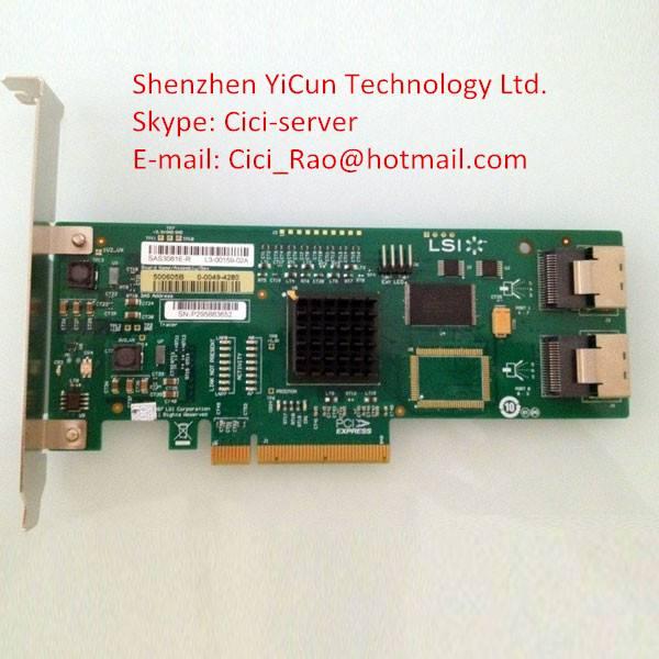LSI00182 - LSI SAS 3081E-R 3Gb/s SAS HBA, 8-Port Controller Card. RAID 0, 1, 1E, 10E Support. SGL