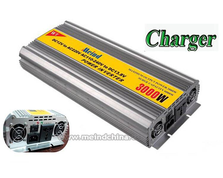 Universal Socket Modified Sine Wave Built-in Charger DC to AC Sufficient 3000W Power Inverter