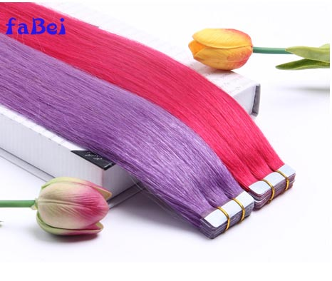 color tape human hair extensions China hair factory