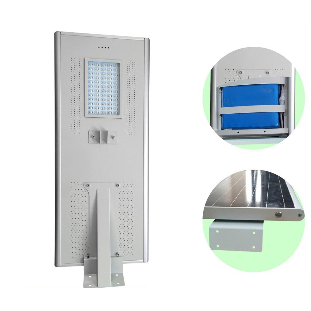 6 - 8 Meter Pole 50w LED Solar Panel Street Lights With Aluminum Alloy