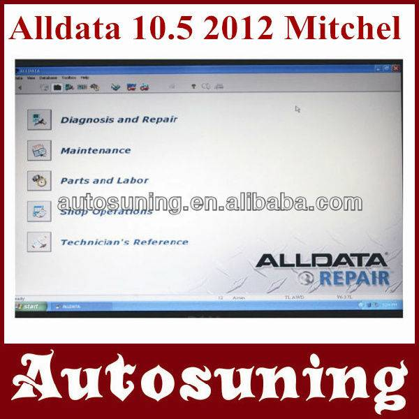 Hotsale---2012 New released alldata v10.50 and mithcell on demand 2012 500G hard disk