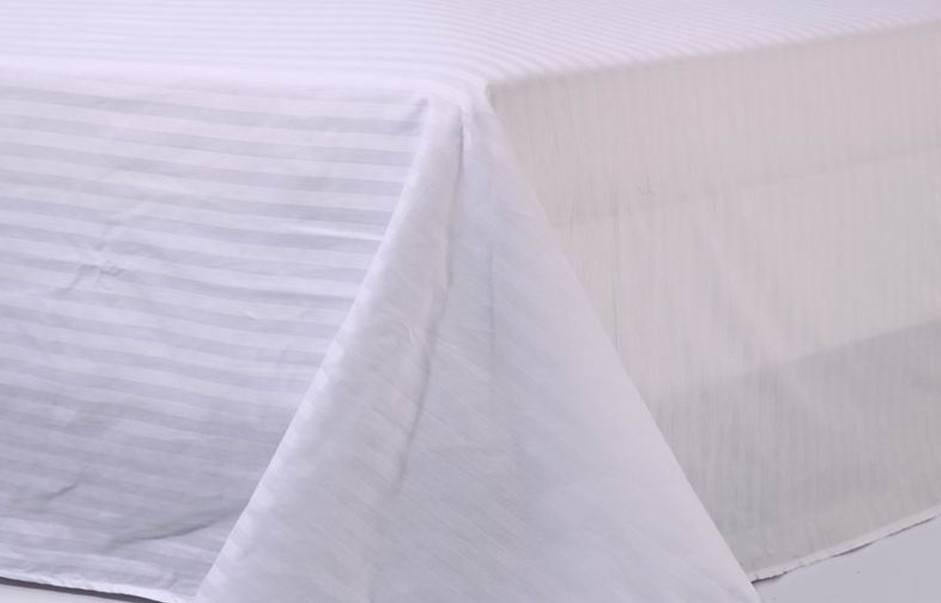 hotel white bedsheet 100% cotton