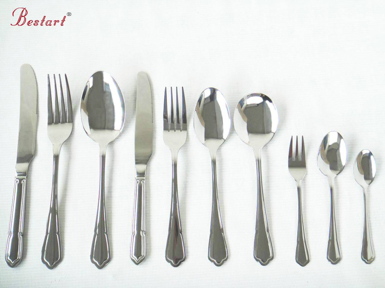 Chinese factory price stainless steel cheap flatware set