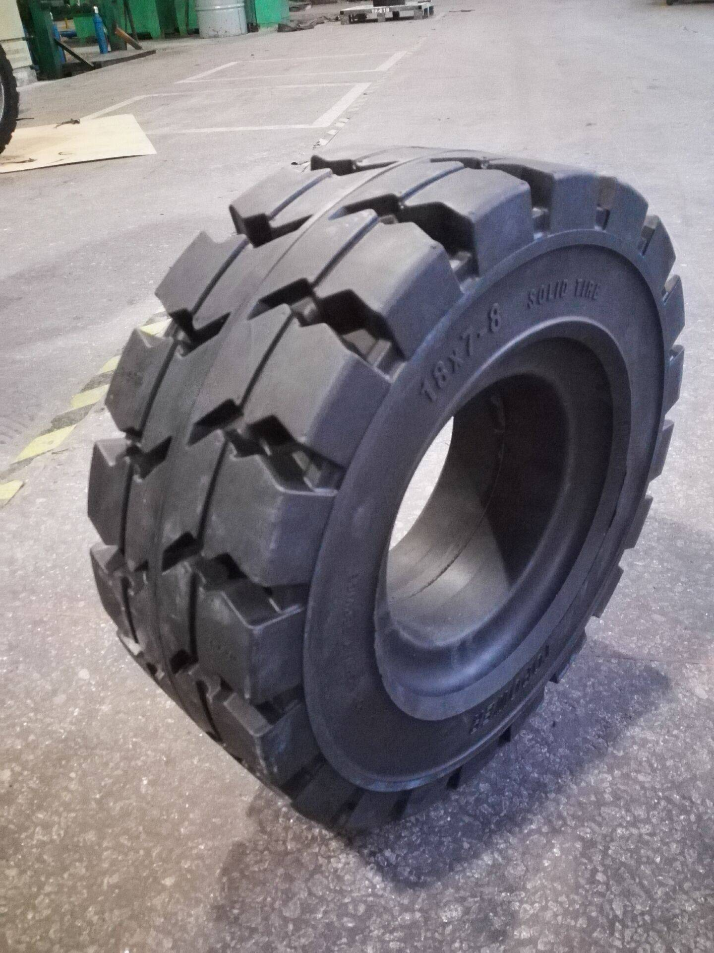 resilient forklift solid tyre 18x7-8 for industrial vehicles