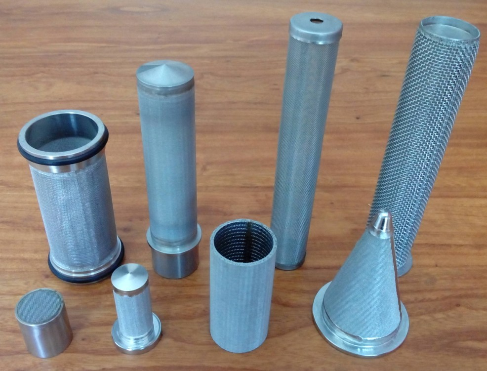 sintered/perforated screen tube filter element