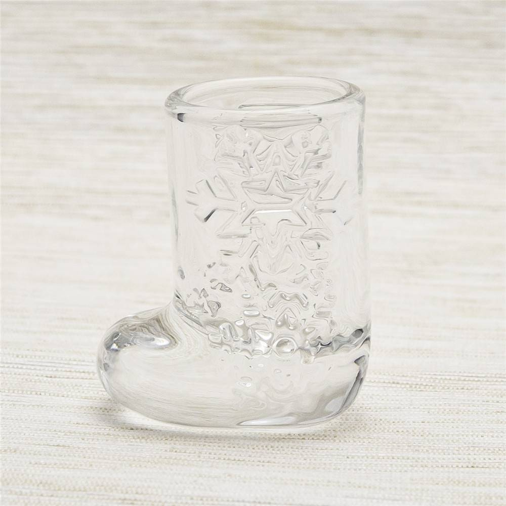 novelty design boot shaped shot glass wholesale