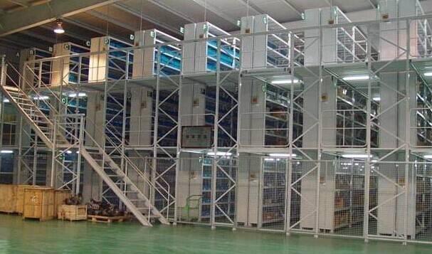 Muti-level mezzanine racking