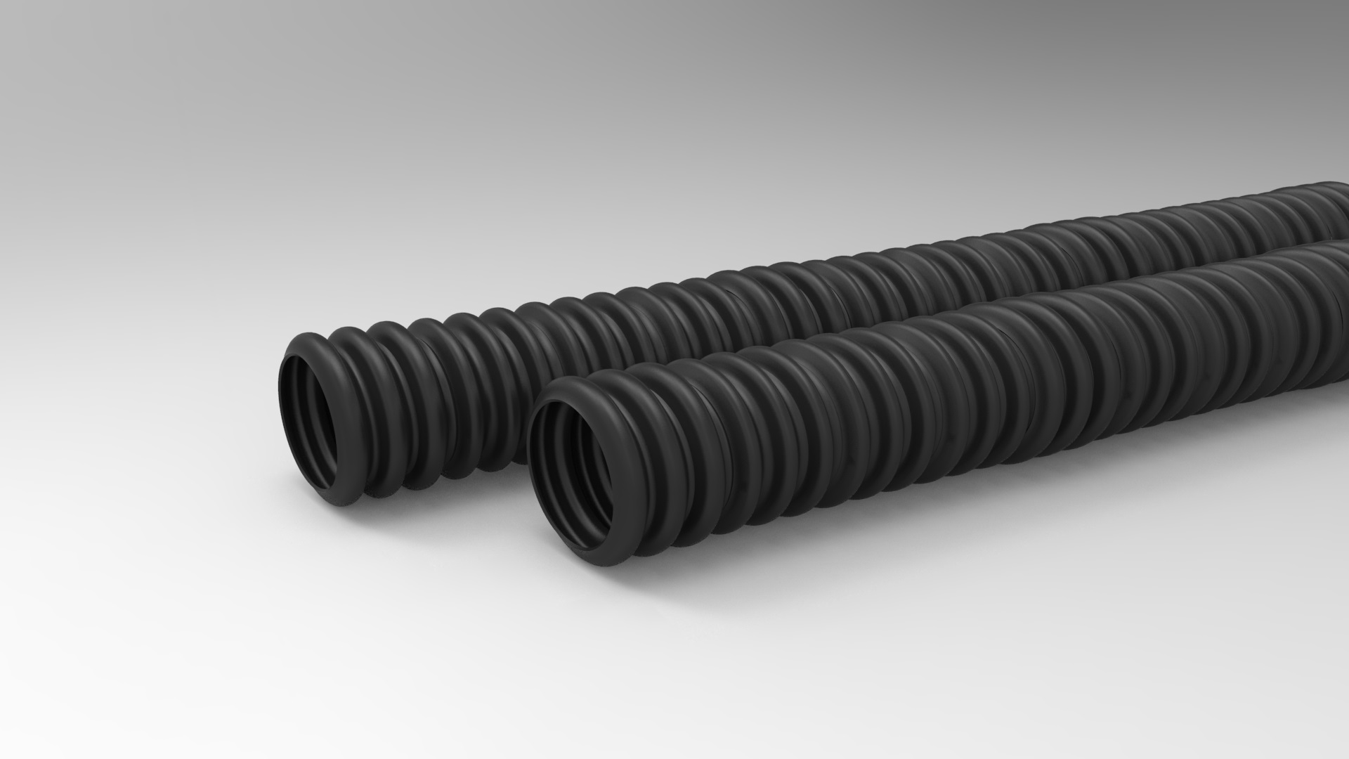 Ribbed Hard Polyethylene Conduit for electric cable
