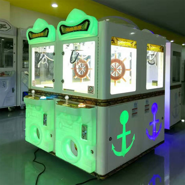 Factory price coin operated pirate treasure 4 players claw dolls arcade game machine