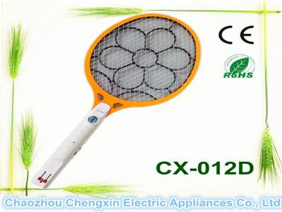 Rechargeable plastic fly swatter with light