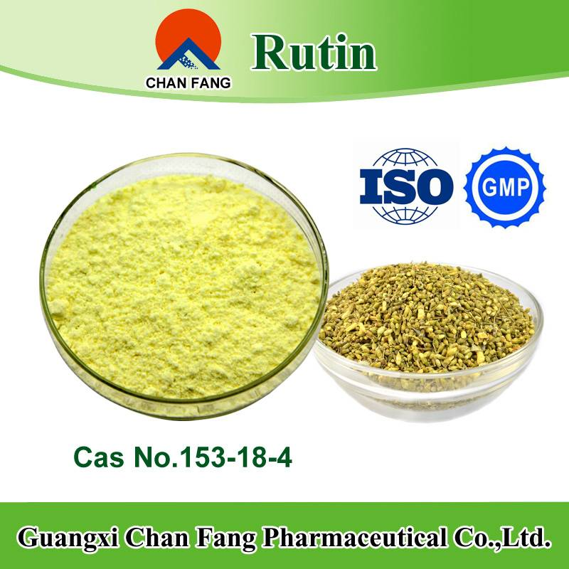 GMP manufacturer supply sophora japonica F. extract 95% rutin and 98% rutin (cas no.153-18-4)