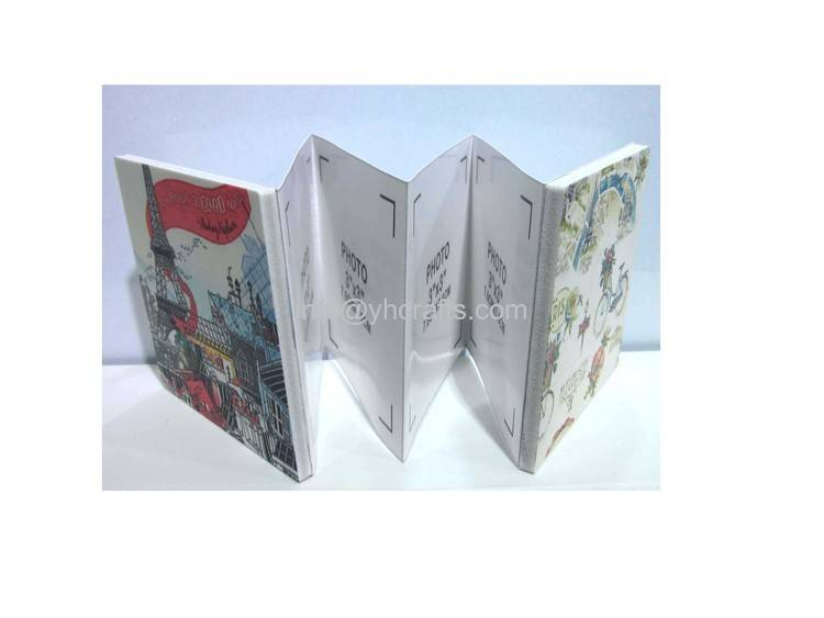 folding photo frame on table for home decoration